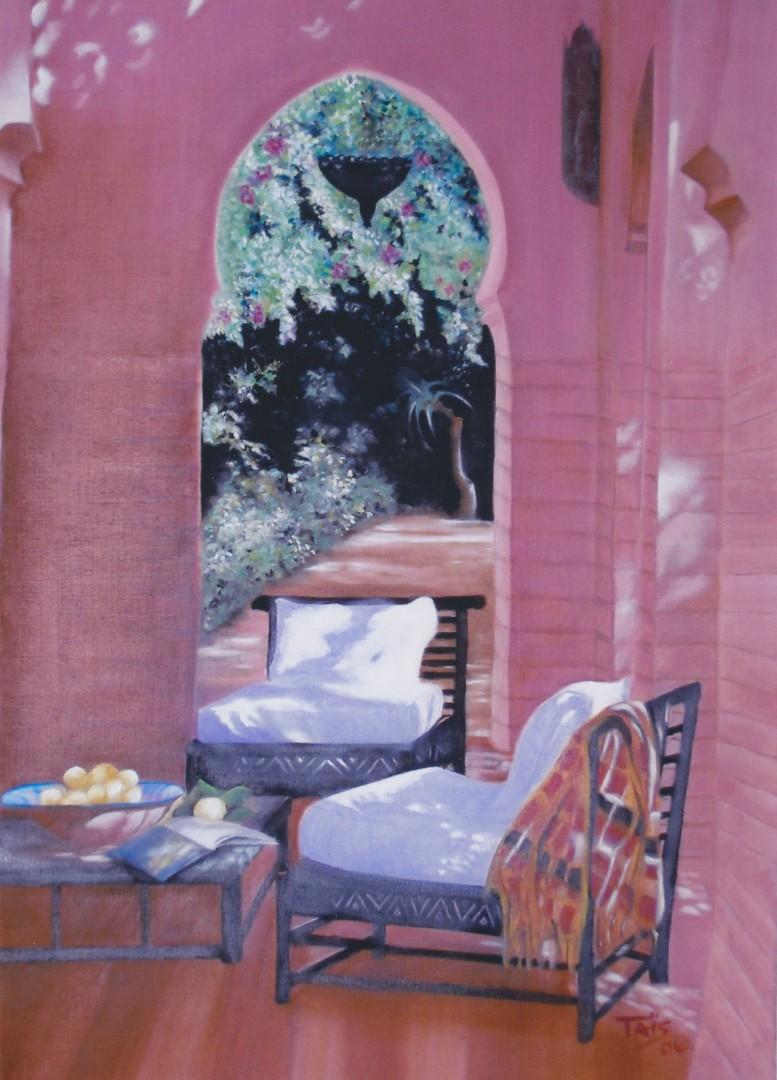 terrasse marocaine ta s artiste peintre. Black Bedroom Furniture Sets. Home Design Ideas
